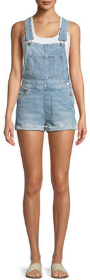 a5164eab742 ... Joe s Jeans The Short Frayed Denim Overalls