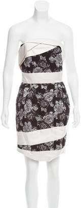 Prabal Gurung Strapless Brocade Dress