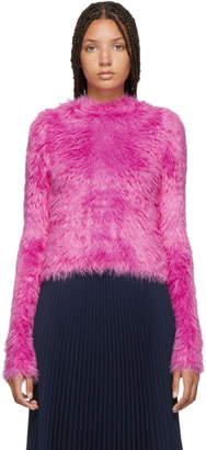 Balenciaga Pink Oversoft Fluffy Sweater