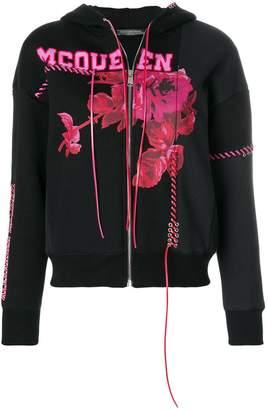 Alexander McQueen floral logo sweatshirt