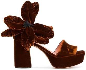 Rochas Oversized flower sandals kREqYQYTh