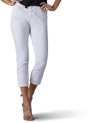Lee Women's Jayla Button-Hem Capri Jeans