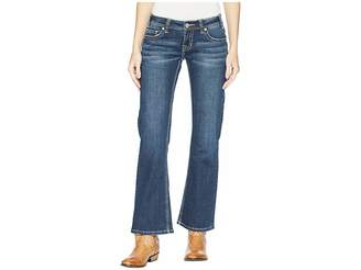 Rock and Roll Cowgirl Riding Bootcut in Dark Vintage W7-5090 Women's Jeans