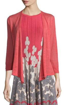 NIC+ZOE 4-Way Linen-Blend Cardigan, Spiced Rose, Petite $98 thestylecure.com