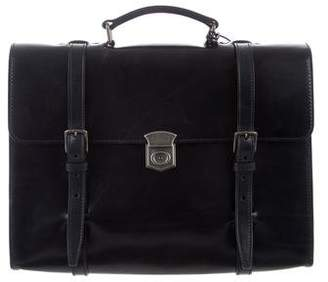 Dolce & Gabbana Leather Convertible Briefcase