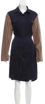 Dries Van Noten Colorblock Knee-Length Dress