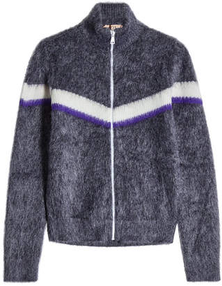 N°21 N21 Zipped Cardigan in Mohair and Wool