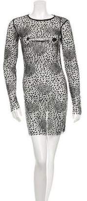 CNC Costume National Mesh Bodycon Dress w/ Tags
