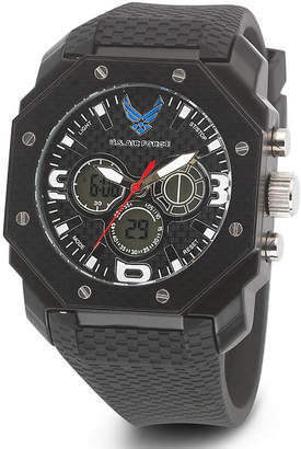 JCPenney WRIST ARMOR Wrist Armor C28 Mens US Air Force Black Silicone Chronograph Watch