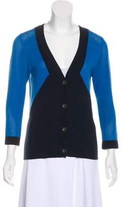 Rag & Bone Mesh-Accented Colorblock Cardigan