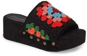 Jeffrey Campbell Nonna Crocheted Platform Slide Sandal