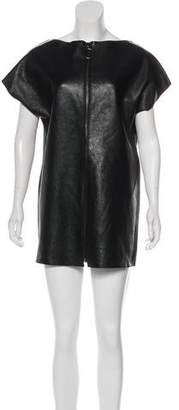 Kelly Wearstler Leather Mini Dress