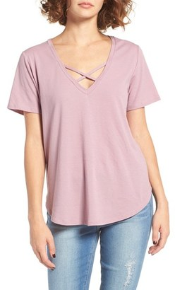 Women's Bp. Cross Front V-Neck Tee $35 thestylecure.com