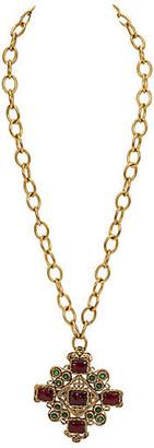 One Kings Lane Vintage Chanel Runway Gripoix Pendant - 1983 - Vintage Lux