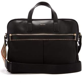 Paul Smith Canvas And Leather Briefcase - Mens - Black