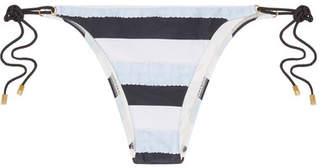 Vix - Sea Glass Striped Striped Bikini Briefs - Sky blue $90 thestylecure.com