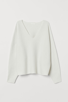 H&M Sweater with Dolman Sleeves - White