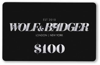Wolf & Badger Gift Card $100
