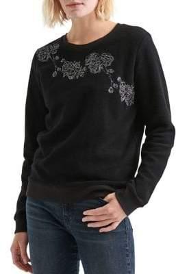 Lucky Brand Floral Fleece Sweater