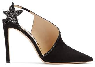 Jimmy Choo Lucette 100 Suede Pumps - Womens - Black