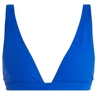 Rochelle Sara The Enga V Neck Bikini Top - Womens - Blue