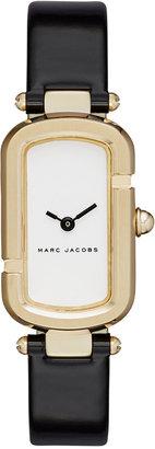 Marc Jacobs Women's The Jacob Black Patent Leather Strap Watch 20x31mm MJ1487 $250 thestylecure.com
