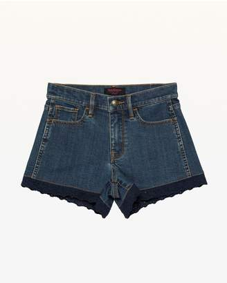 Juicy Couture Eyelet Trim Denim Short for Girls