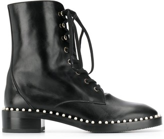 Stuart Weitzman lace-up ankle boots