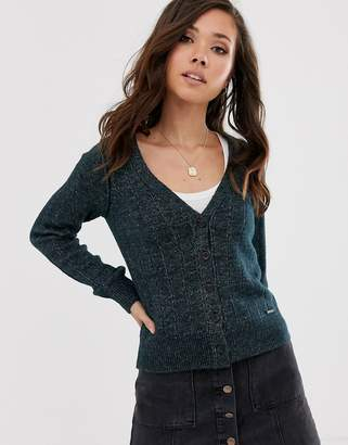 Abercrombie & Fitch chenille knit cardigan