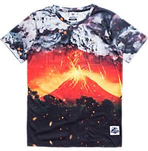 Hype Boys' Volcanic Eruption Print T-Shirt, Black/Multi