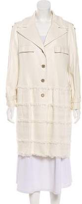 Chanel Lambskin & Tweed Coat
