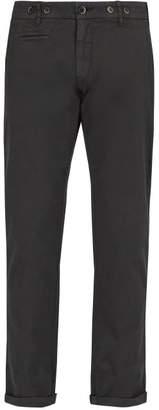 Barena Venezia - Rampin Slim Fit Cotton Blend Twill Trousers - Mens - Grey