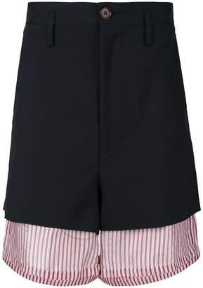 Marni oversized layered shorts