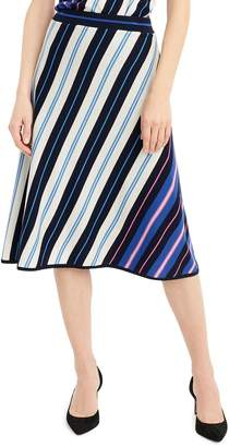 J.Crew Diagonal Stripe Merino Wool A-Line Skirt