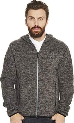 Original Penguin Men's Zip Front Heathered Fleece Jacket