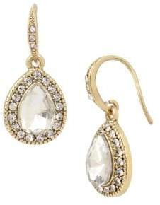 Miriam Haskell Basic Ears Crystal Teardrop Earrings