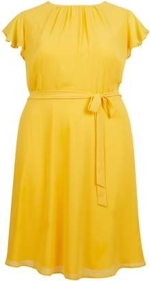 Dorothy Perkins Womens **Billie & Blossom Curve Yellow Skater Dress