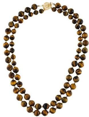 14K Tiger's Eye Bead Necklace