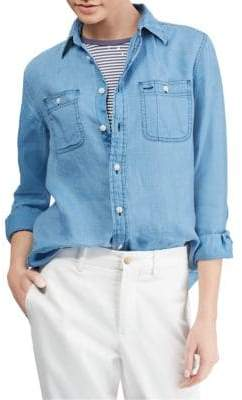 Polo Ralph Lauren Linen Button-Front Shirt