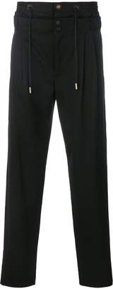 Saint Laurent layered drawstring trousers