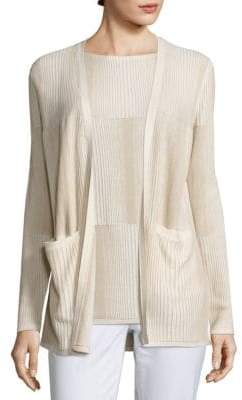 Lafayette 148 New York Ombre Stitch Open Cardigan