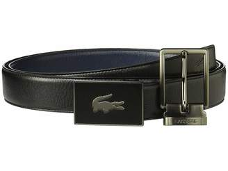 Lacoste Classic Textured Leather Belt