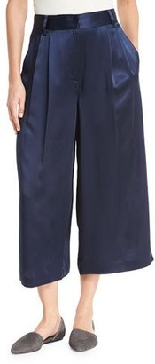 Tibi Satin Cropped Wide-Leg Pants $425 thestylecure.com