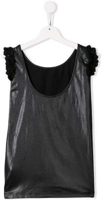 MonnaLisa frill-trim sleeveless top