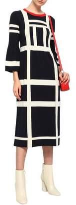 Chinti and Parker Checked Cotton Midi Dress