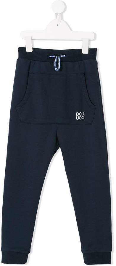 Douuod Kids logo print sweatpants