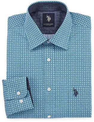 U.S. Polo Assn. USPA Long Sleeve Geometric Dress Shirt - Slim
