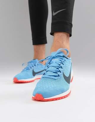 Nike Running Air Zoom streak 6 racing sneakers in blue 831413-446