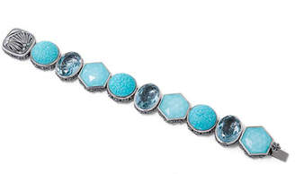 Stephen Dweck Multihued Blue Quartz & Turquoise Bracelet