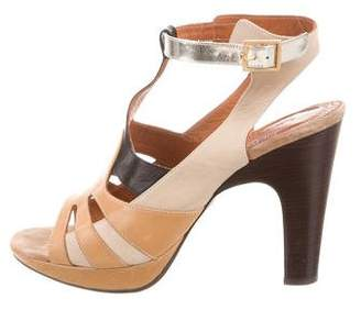 Chie Mihara Leather Platform Sandals